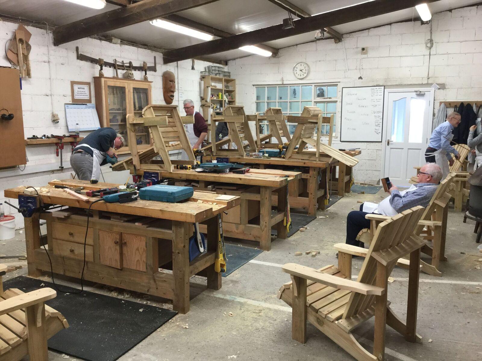 adirondack chair group - bevel woodworking school
